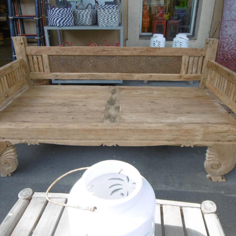 grand banc de jardin en teck chaises fauteuils et bancs et fontaines jardin terrasse sur. Black Bedroom Furniture Sets. Home Design Ideas